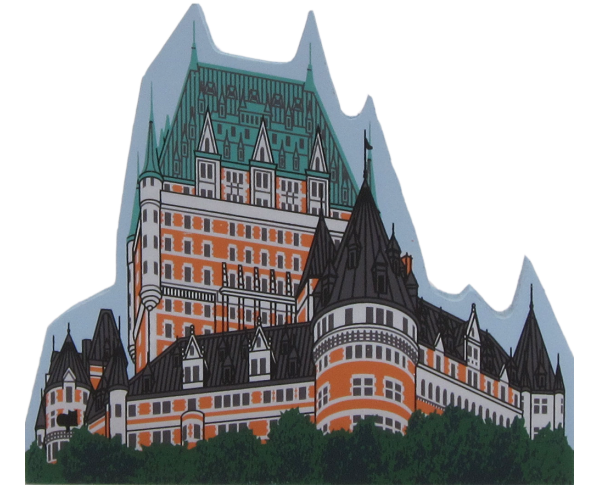 Cat's Meow replica of Chateau Frontenac Hotel in Quebec City, Canada
