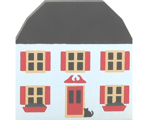 "Vintage Brocke House from Series II handcrafted from 3/4"" thick wood by The Cat's Meow Village in the USA"