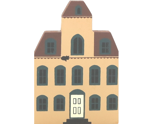 "Vintage Eaton House from Series II handcrafted from 3/4"" thick wood by The Cat's Meow Village in the USA"