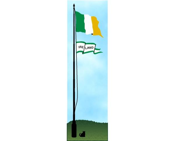 Irish Flag handcrafted in wood by The Cat's Meow Village