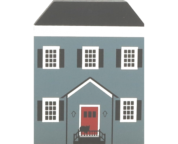 "Vintage Allen-Coe House from Series III handcrafted from 3/4"" thick wood by The Cat's Meow Village in the USA"