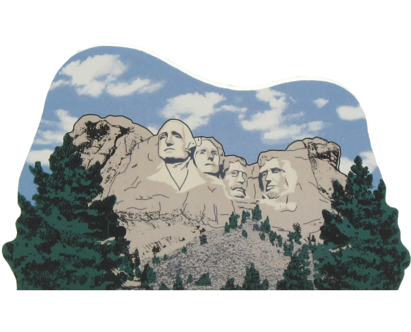 Mt. Rushmore in the Black Hill of South Dakota, faces of Washington, Jefferson, Lincoln, Roosevelt