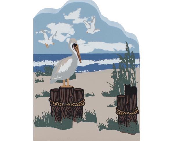 Coastal Birds, pelican, birds, nautical