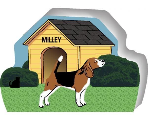 Beagle can be personalized with your dog's name