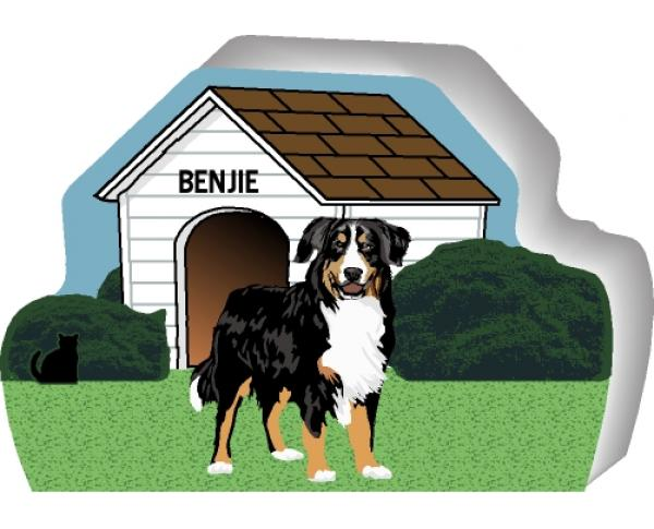 Bernese Mountain Dog can be personalized with your dog's name