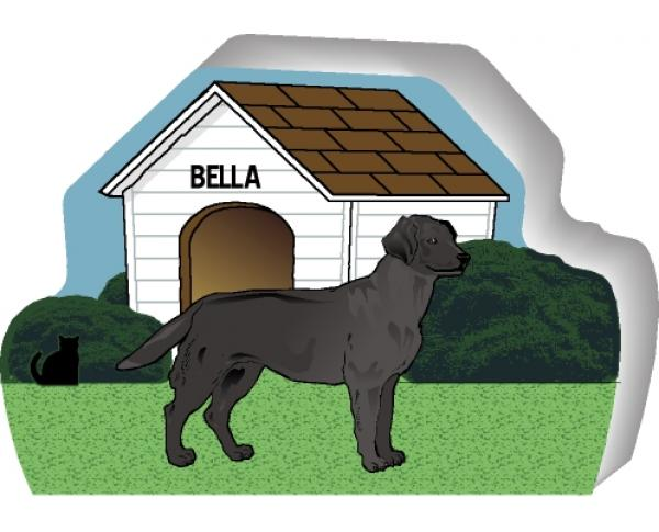 Black Lab can be personalized with your dog's name