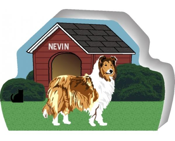 Collie can be personalized with your dog's name
