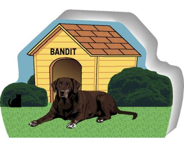 Chocolate Lab can be personalized with your dog's name