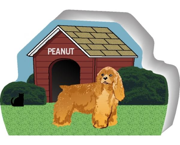Cocker Spaniel can be personalized with your dog's name