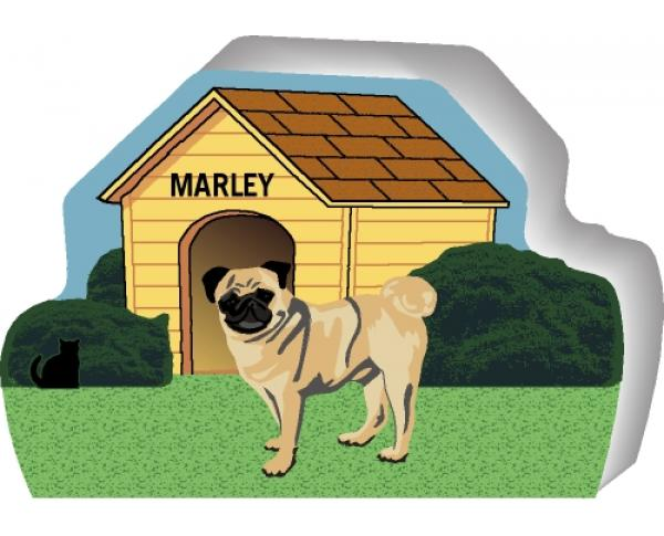 Pug can be personalized with your dog's name