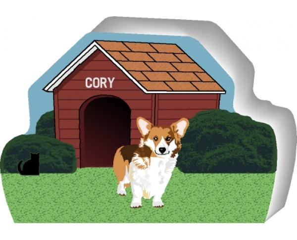Welsh Corgi can be personalized with your dog's name
