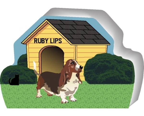 Basset Hound can be personalized with your dog's name
