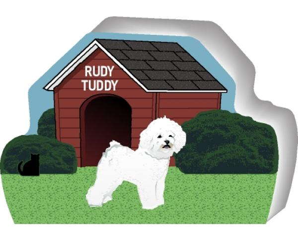 Bichon Frise can be personalized with your dog's name