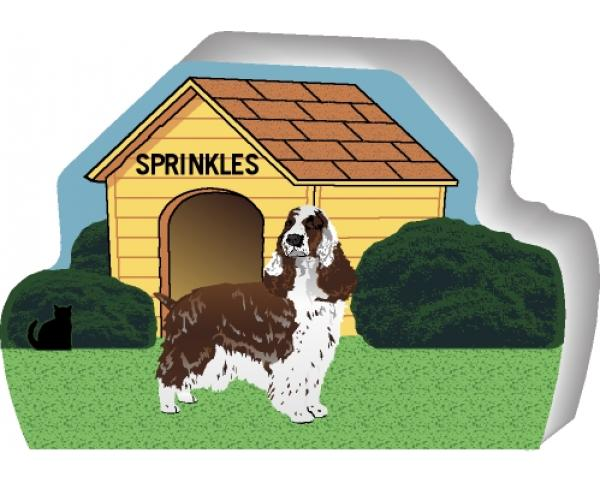 English Springer Spaniel can be personalized with your dog's name