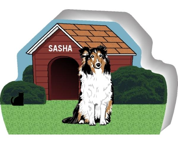 Shetland Sheepdog can be personalized with your dog's name
