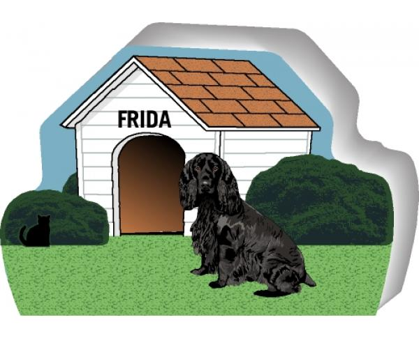 Field Spaniel can be personalized with your dog's name