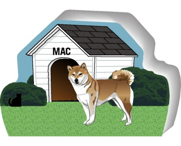 Shiba Inu can be personalized with your dog's name