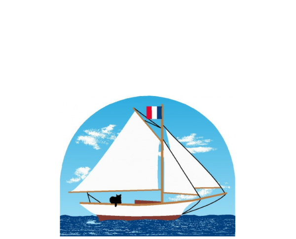 Cat's Meow Village Bermuda Sloop accessory. Add it to your other nautical Cat's Meows.