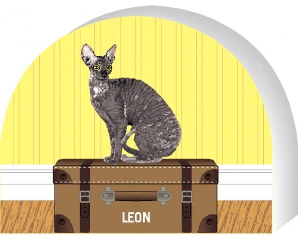 Cornish Rex cat by The Cat's Meow Village, PURRsonalize Me! Item