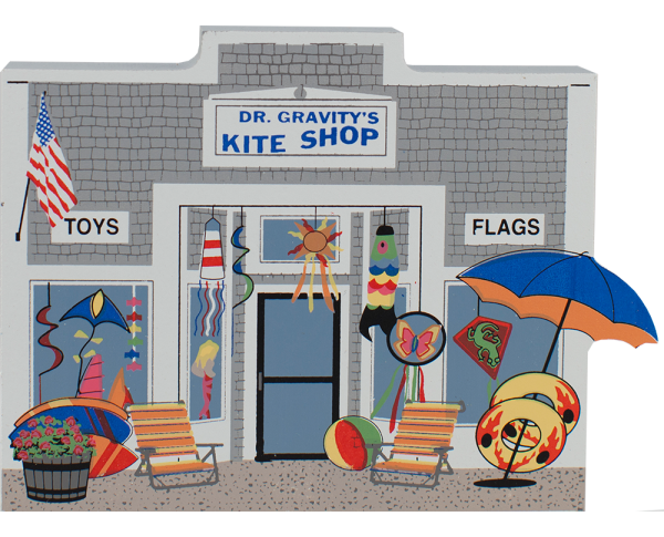 Dr. Gravity's Kite & Toy Shop, kites, seashore, windsocks, toy store, Cape Cod, Harwich Port, Massachesetts, nautical