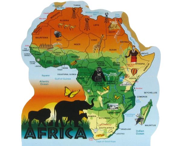 Map of Africa, Continent of Africa, Amani Ya Juu, Kenya