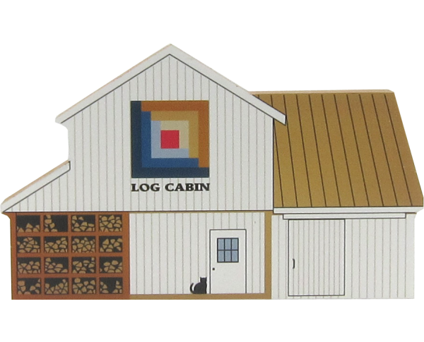 Log Cabin Quilt Barn, quilt, Amish, antique