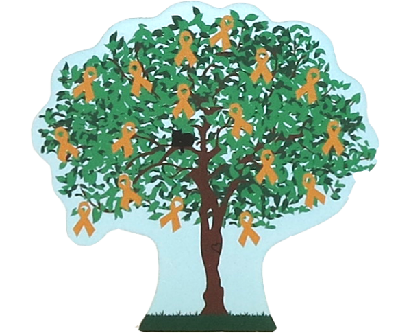 Cat's Meow Village 2015 Leukemia Awareness Charity Tree