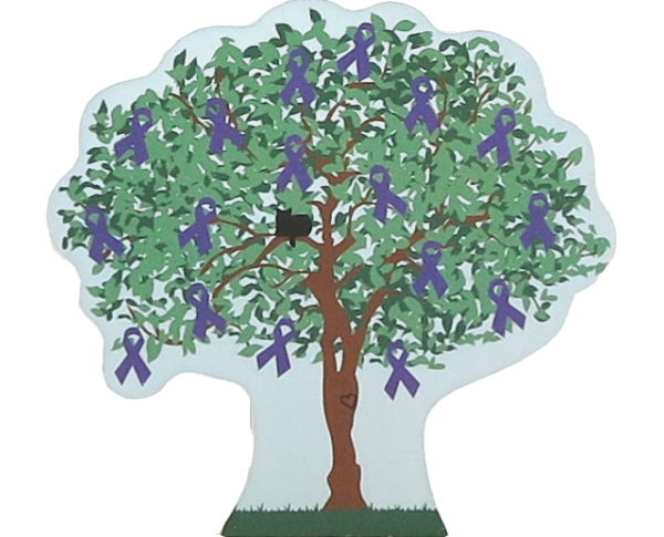Cat's Meow Village 2015 Pancreatic Cancer Awareness Charity Tree