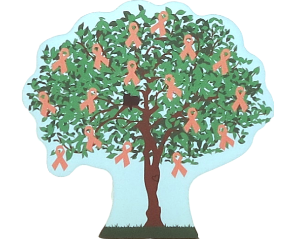 Cat's Meow Village 2015 Uterine Cancer Awareness Charity Tree