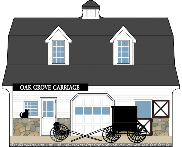 Cat's Meow Oak Grove Carriage, Amish Country Collection 2015