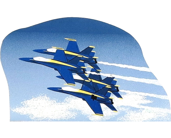 United States Navy Blue Angels.  Handcrafted in the USA by the Cat's Meow Village.