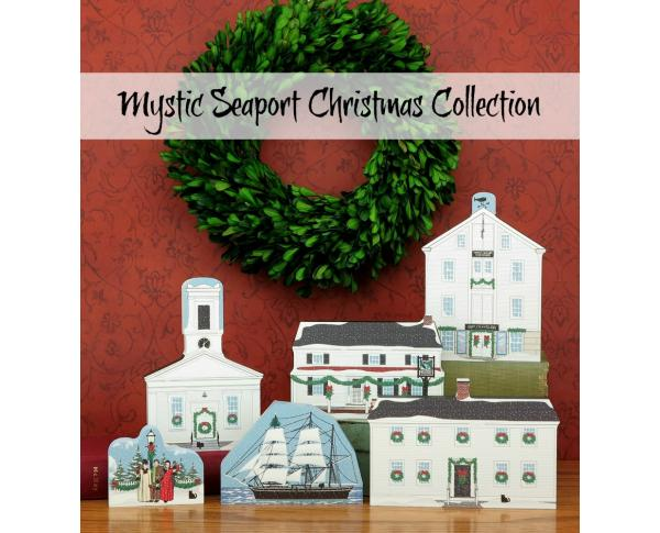 Save $4 when you purchase the Mystic Seaport Christmas Collection as a set. Crafted in the USA by The Cat's Meow Village.