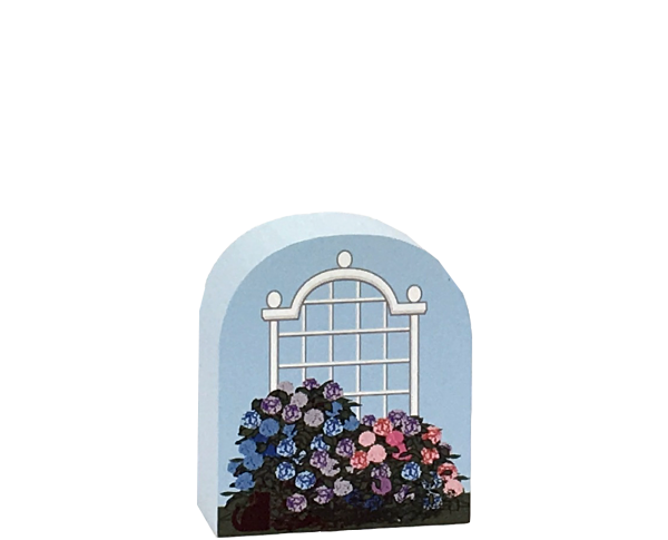 Add this Cat's Meow trellis with Hydrangeas to your Village collection to bring out it's purrsonality.