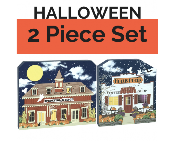 Get your paws on both our Halloween Village buildings and save yourself $2! Handcrafted in the USA by The Cat's Meow Village.