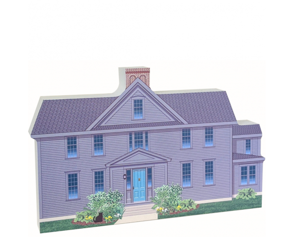 "We handcraft this Orchard House from 3/4"" thick wood with colorful details on the front and more of the story on the back. Made in the USA by The Cat's Meow Village."
