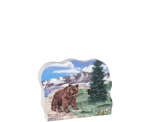 "The Big Five Grizzly Bear, Alaska. Handcrafted in the USA 3/4"" thick wood by Cat's Meow Village."