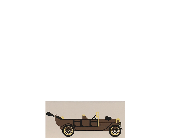 "Vintage 1913 Peerless Touring Car from Accessories handcrafted from 1/2"" thick wood by The Cat's Meow Village in the USA"