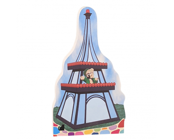 Mister Rogers, Grandpère's Eiffel Tower. Handcrafted in the USA by The Cat's Meow Village.