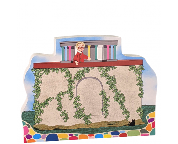 Mister Rogers, Lady Elaine's Museum-Go-Round.Handcrafted by The Cat's Meow Village in the USA.