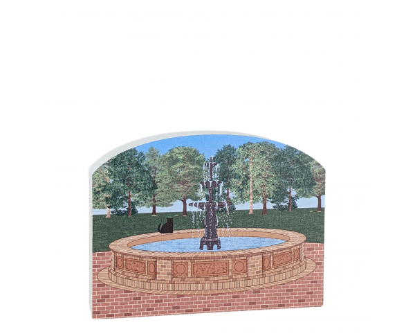 Fountain Park, Pensacola, Florida.  Handcrafted in the USA by Cat's Meow Village