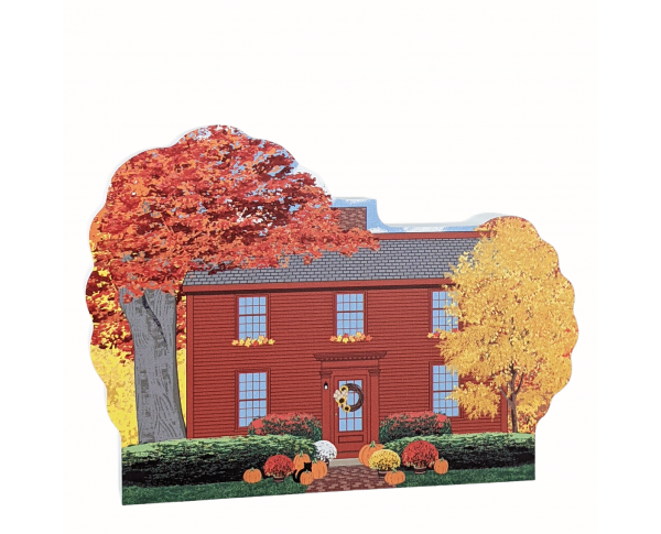 """Hawthorne Birthplace in Salem, Massachusetts. Handcrafted in 3/4"""" thick wood by The Cat's Meow Village in Wooster, Ohio."""