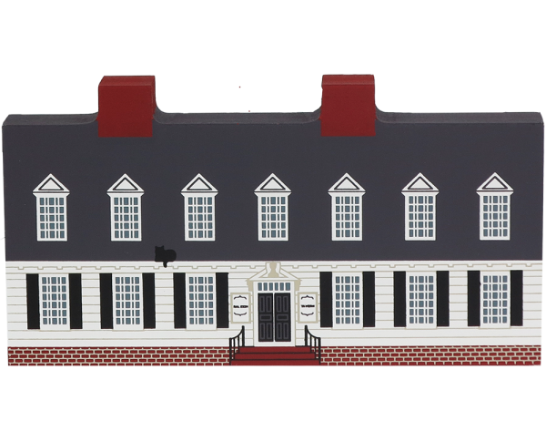 "Vintage Raleigh Tavern from Williamsburg Series handcrafted from 3/4"" thick wood by The Cat's Meow Village in the USA"