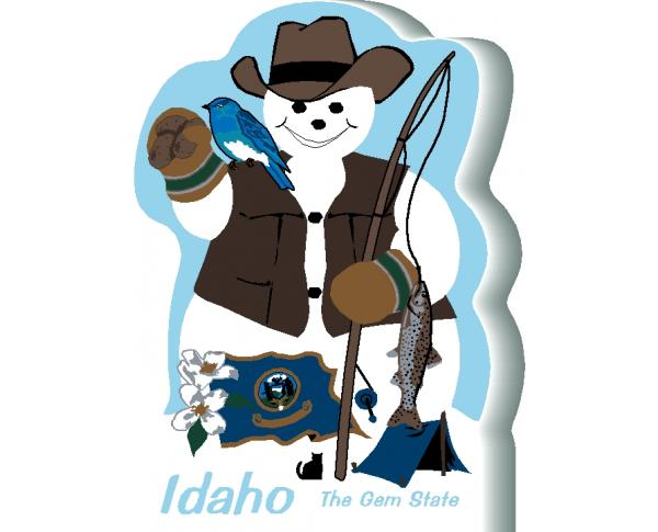Idaho State Snowman handcrafted and made in the USA.