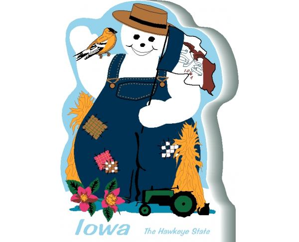 Iowa State Snowman handcrafted and made in the USA.