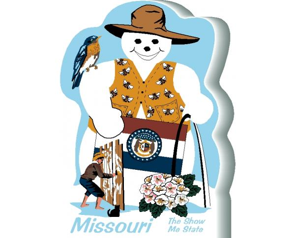 Missouri State Snowman handcrafted and made in the USA.