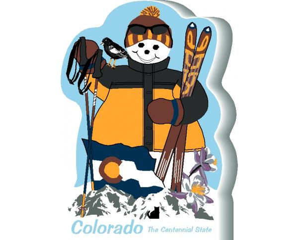 Colorado State Snowman handcrafted and made in the USA.