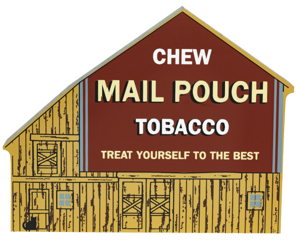 "Vintage Chew Mail Pouch Tobacco Barn from America's Back Roads Series I handcrafted from 3/4"" thick wood by The Cat's Meow Village in the USA"