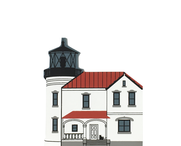 "Vintage Admiralty Head Lighthouse from Lighthouse Series handcrafted from 3/4"" thick wood by The Cat's Meow Village in the USA"