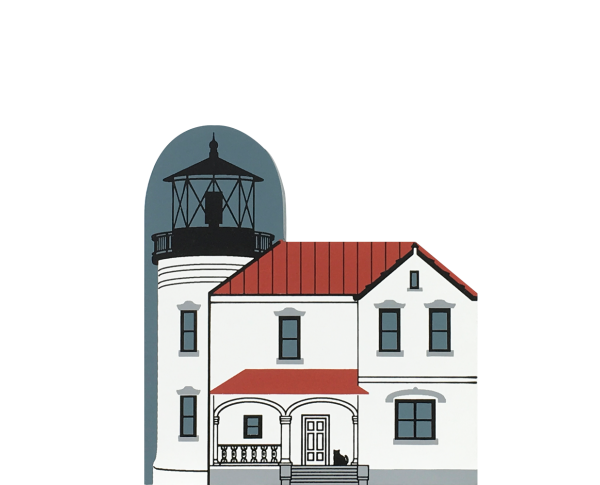 "Vintage Admiralty Head Lighthouse from Lighthouse Series handcrafted from 3/4"" thick wood by The Cat's Meow in the USA"