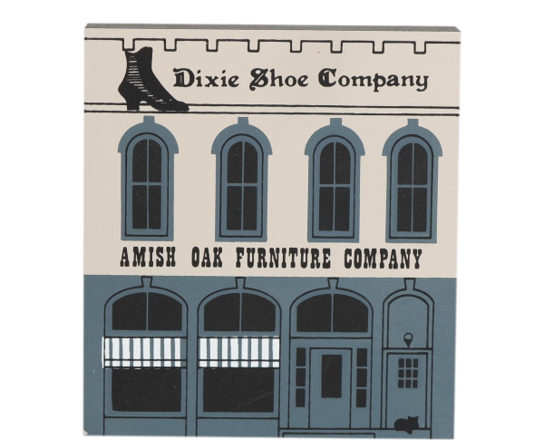 "Vintage Amish Oak/Dixie Shoe from Series V handcrafted from 3/4"" thick wood by The Cat's Meow Village in the USA"